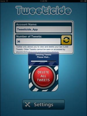 Screenshot Tweeticide on iPad