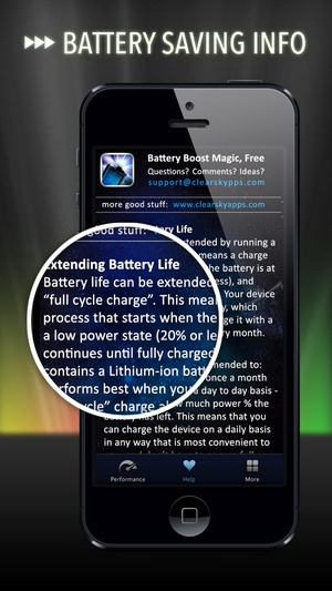 Screenshot Battery Life Magic, free on iPhone