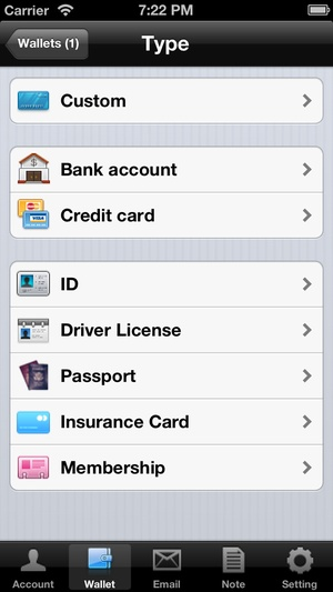 Screenshot Password Secure Manager Lite Free on iPhone