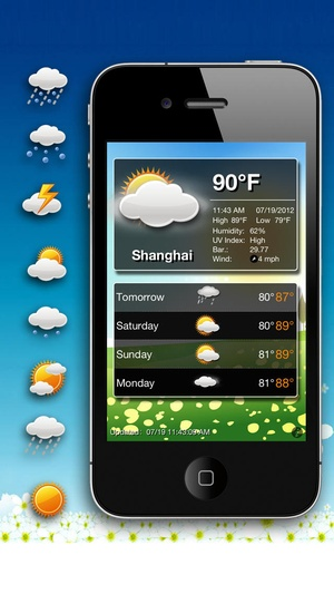 Screenshot Animation Weather Free on iPhone