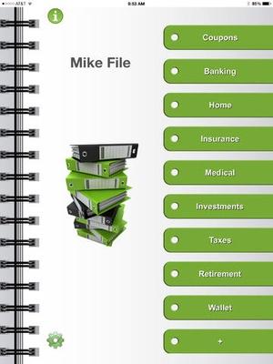 Screenshot Financial Organizer: Your Virtual Wallet on iPad