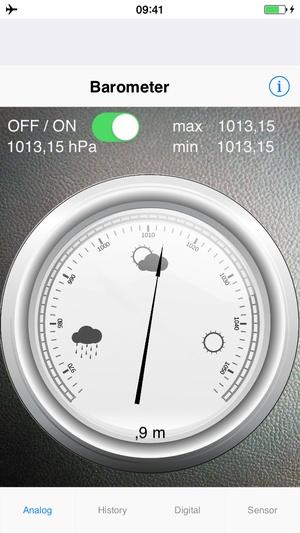 Screenshot Barometer plus Altimeter on iPhone