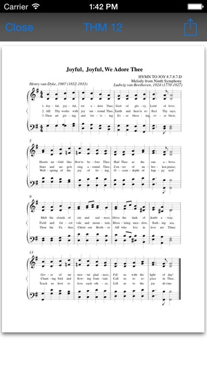 Screenshot The Advent Hymnal on iPhone
