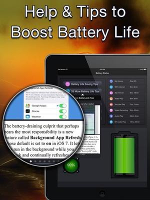 Screenshot Battery Analyst on iPad