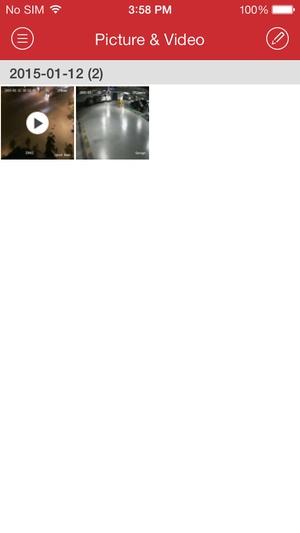 Screenshot iVMS on iPhone