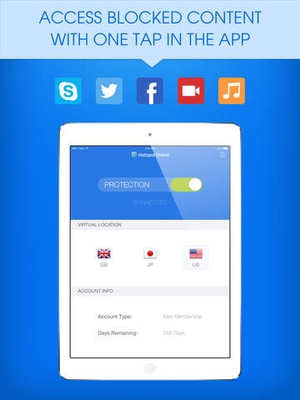 Screenshot Hotspot Shield VPN on iPad