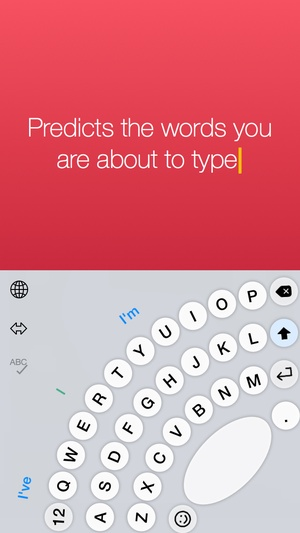 Screenshot Thumbly Keyboard on iPhone