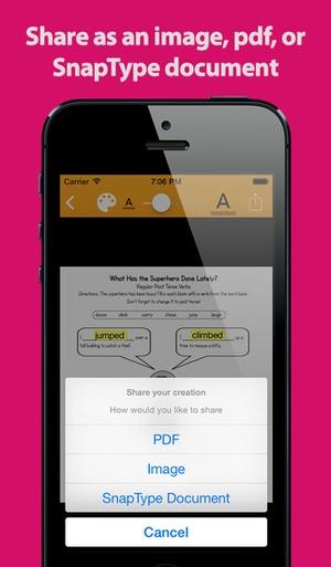 Screenshot SnapType Pro on iPhone
