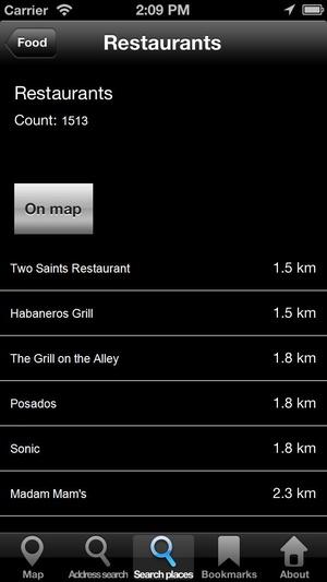 Screenshot Offline Map Texas, USA: City Navigator Maps on iPhone