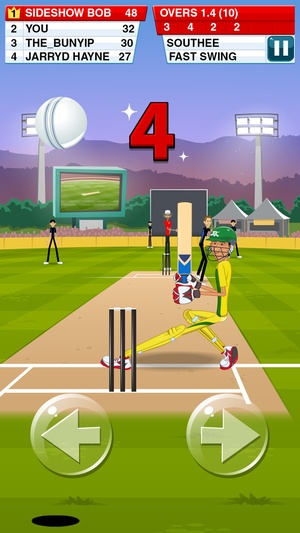 Screenshot Stick Cricket 2 on iPhone
