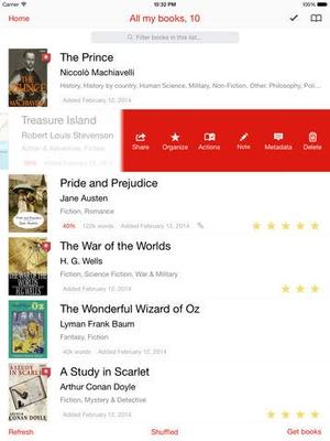 Screenshot Marvin on iPad