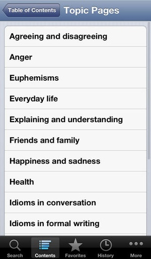 Screenshot Cambridge Idioms Dictionary 2nd Edition on iPhone