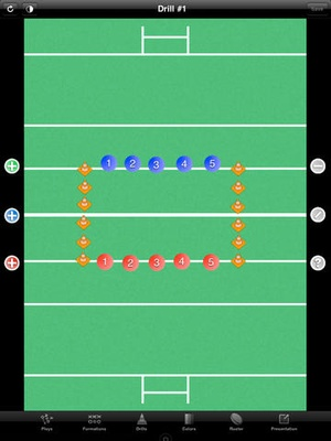 Screenshot Rugby Coach Pro on iPad