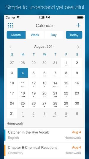 Screenshot myHomework Student Planner on iPhone