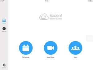 Screenshot Bizconf Video on iPad