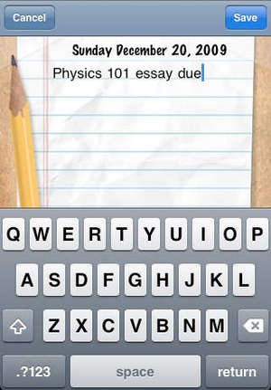 Screenshot easyPlanner (+Sticky Notes/To on iPhone