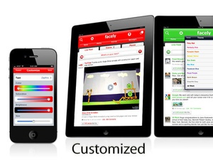 Screenshot Facely HD for Facebook + Chat & Photos on iPad