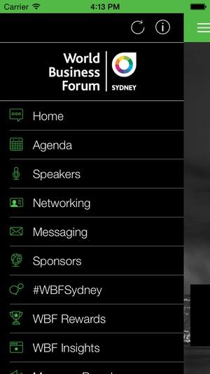 Screenshot World Business Forum Sydney on iPhone