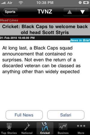 Screenshot New Zealand News, 24/7 ePaper on iPhone