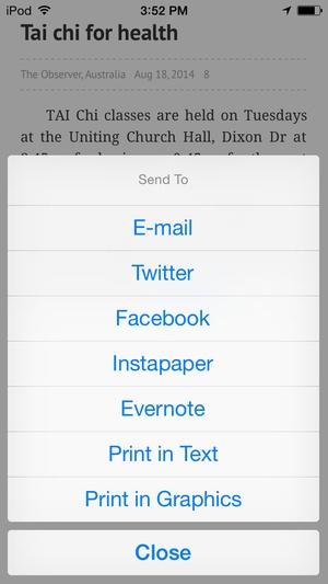 Screenshot The Gladstone Observer on iPhone