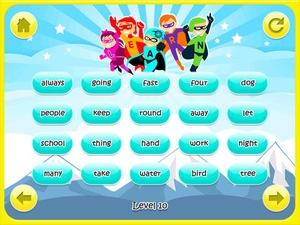 Screenshot Superhero Sight Words on iPad