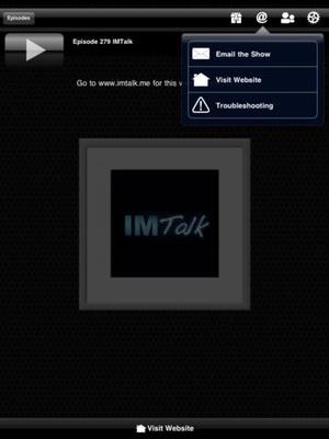 Screenshot IMTalk on iPad