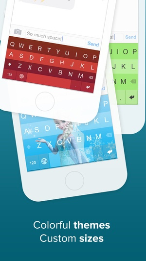 Screenshot Fleksy Keyboard  on iPhone