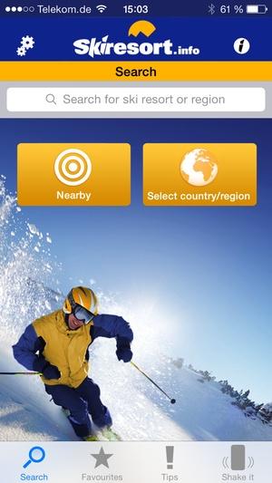 Screenshot Skiresort.info on iPhone
