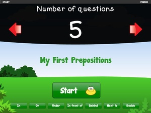 Screenshot My First Prepositions on iPad