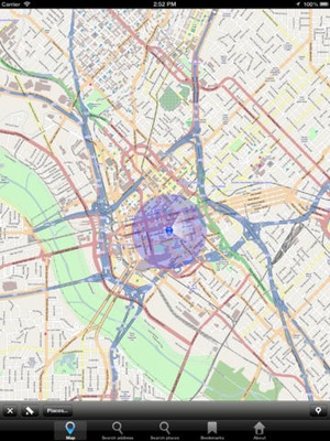 Screenshot Offline Map Texas, USA: City Navigator Maps on iPad