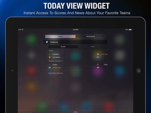 Screenshot theScore on iPad
