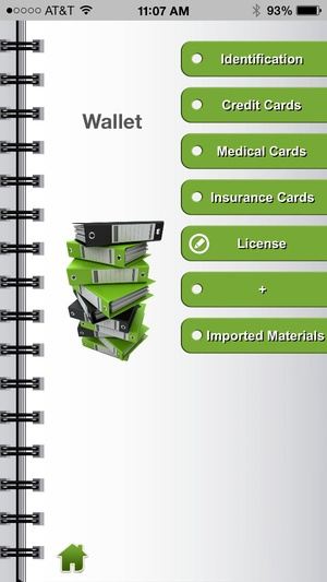 Screenshot Financial Organizer: Your Virtual Wallet on iPhone