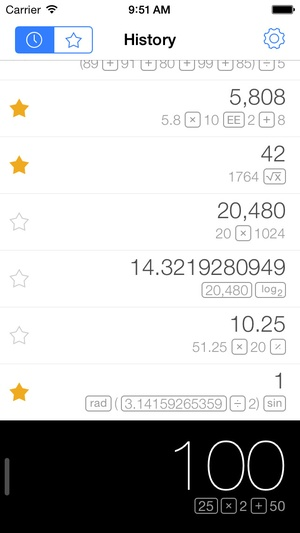 Screenshot Calcbot on iPhone