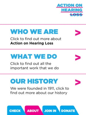 Screenshot Hearing on iPad