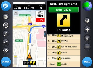 Screenshot MotionX GPS Drive on iPad