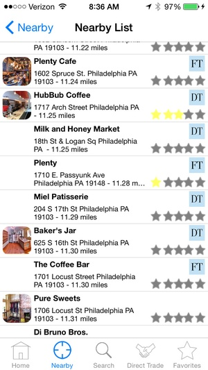 Screenshot CoffeeGuru on iPhone