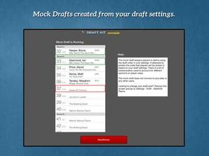 Screenshot RotoWire Fantasy Baseball Draft Kit 2015 on iPad