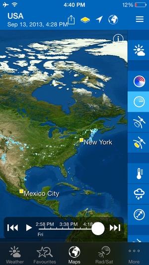 Screenshot WeatherPro on iPhone