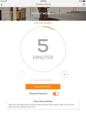 Screenshot Lower Body Sworkit on iPad
