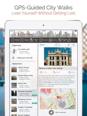 Screenshot Boston Map and Walks on iPad