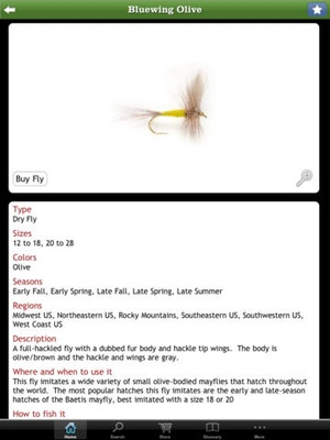 Screenshot Orvis Fly Fishing – The Ultimate Fly on iPad