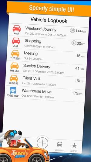 Screenshot Speedy Log on iPhone