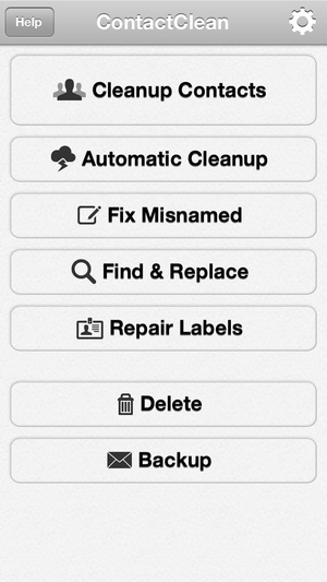 Screenshot ContactClean Pro on iPhone