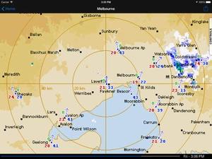 Screenshot Oz Radar Weather on iPad