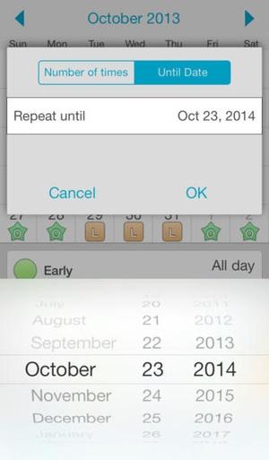 Screenshot Shift Mate on iPhone