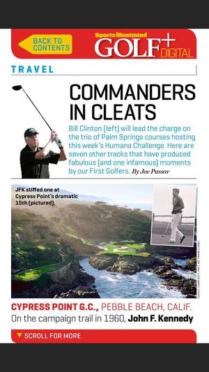 Screenshot Sports Illustrated Golf+ Digital on iPhone