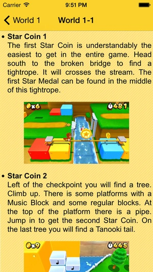 Screenshot Guide for Super Mario 3D Land on iPhone