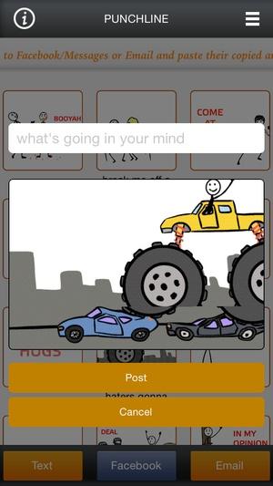 Screenshot Stick Messaging on iPhone