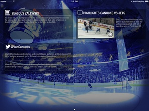 Screenshot Canucks on iPad