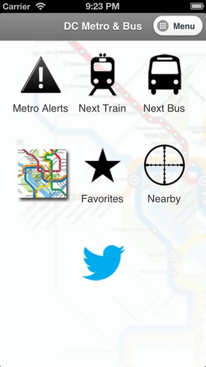 Screenshot DC Metro and Bus Pro on iPhone